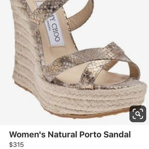 Jimmy Choo Porto wedge sandals
